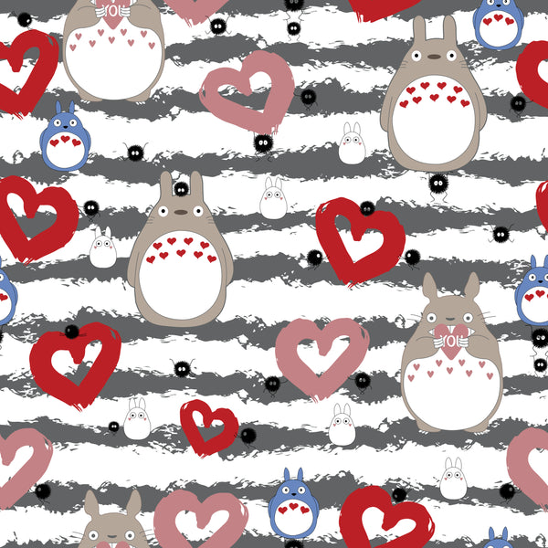 International - Fabric Totoro love