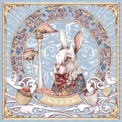 Alice, the White Rabbit - Handkerchief - Sutoru - Handkerchief - Sutoru