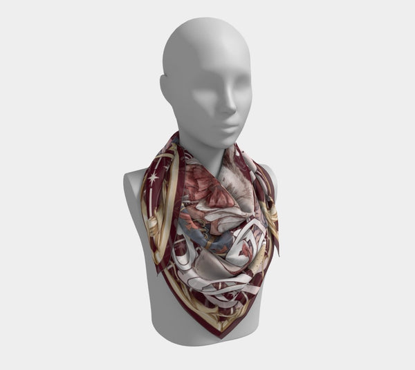 Alice, the White Rabbit - Wine - Sutoru - Square Scarf - Sutoru
