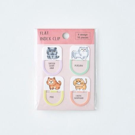 Index Clip Bookmark - Illustration of Cats - Sutoru - Book Mark - Pine Book