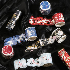 Masking Tape —— Cranes with Brocade - Sutoru - Masking Tape - Card Lover