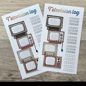 Washi Sticker - Television Log - Sutoru - Sticker - Pine Book