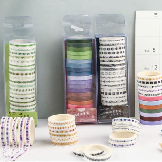 Washi Tape 20 Rolls Set - Color Aesthetics - Sutoru - Washi Tape - MO•CARD