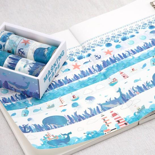 Washi Tape set — Lighthouse and Toucan Whale - Sutoru - Washi Tape - Mr. Paper
