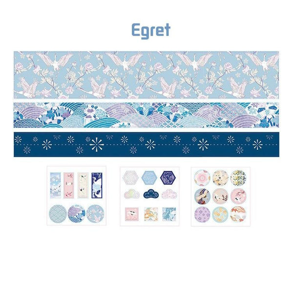 Washi Tape & Sticker Gift Box —— Egret - Sutoru - Washi Tape - MISS TIME