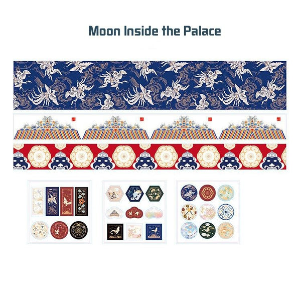 Washi Tape & Sticker Gift Box —— Moon Inside the Palace - Sutoru - Washi Tape - MISS TIME