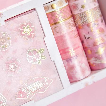 Washi Tape & Sticker Gift Box —— Sakura Sunset - Sutoru - Washi Tape - MISS TIME