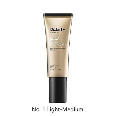 Dr. Jart+ Premium Beauty Balm SPF 45, No. 1 Light – Medium, 1.5 Ounce