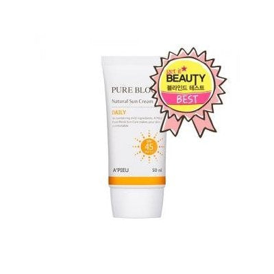 A'pieu pure block Natural Sun Cream SPF45/PA+++