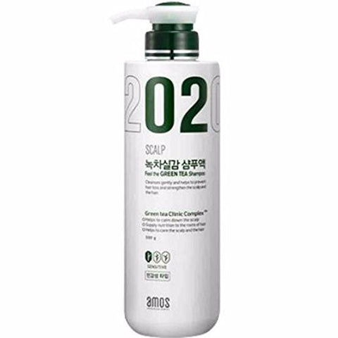 Amos scalp feel the green tea shampoo for sensitive type