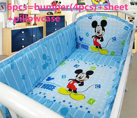 6/7PCS Mickey Mouse Bedding Sets 120*60/120*70cm - Anime Fuse