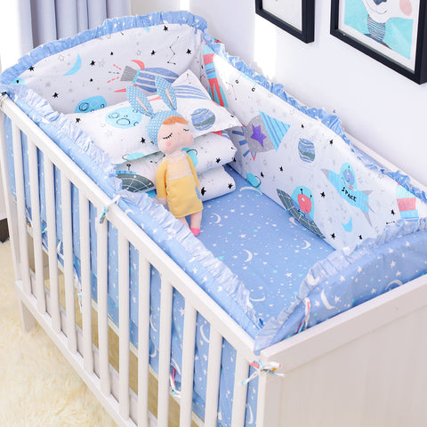 6pcs/set Universe Design Crib Bedding Sets - Anime Fuse