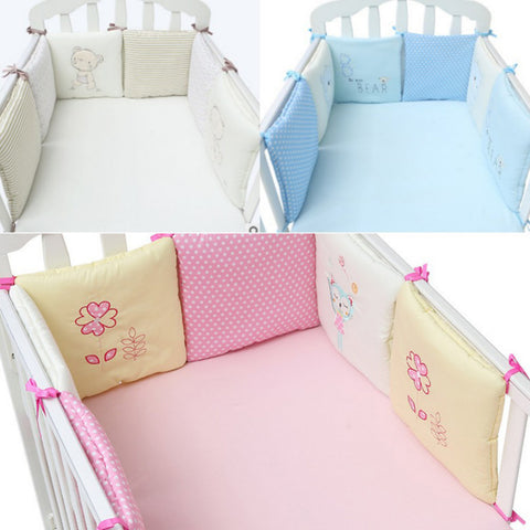 Fluffy Baby Crib Bedding Bumper 6 Pieces - Anime Fuse