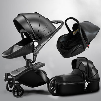 Babyfond™ Luxury Leather 3-in-1 Stroller System - Anime Fuse