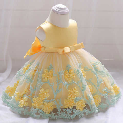 Floral Princess Dresses (3-24M) - Anime Fuse