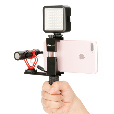 Ulanzi™ Smartphone Video Handle Grip Tripod Mount Adapter for LED Light & Microphone - Anime Fuse