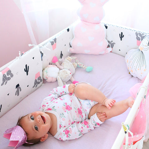 Baby Bed Bumpers Crib Bumpers Multi Colors (120cm) - Anime Fuse