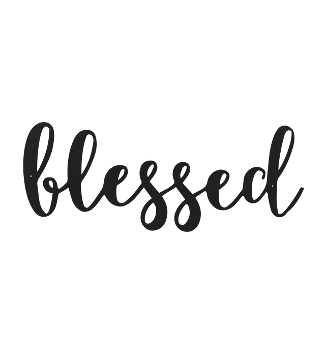 Blessed Metal Sign Home Decor