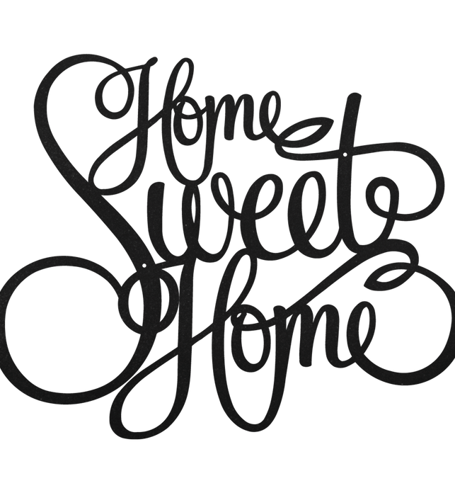 Home Sweet Home Metal Decor