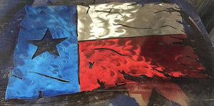Texas Tattered and Torn Flags