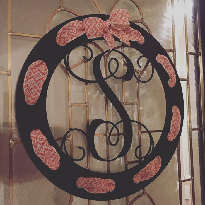 Vine Monogram Ribbon