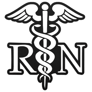 Registered Nurse (RN) Logo Metal Wall Decor