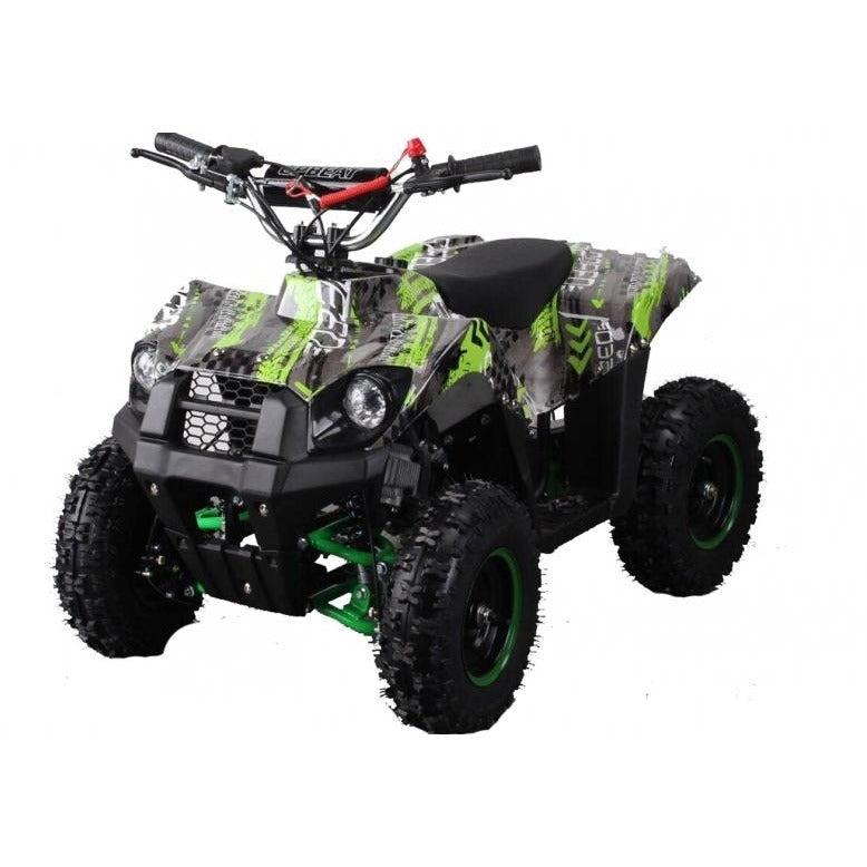 Hawkmoto Mini Explorer 49cc Junior Quad Bike - Green - Epicstuff.co.uk