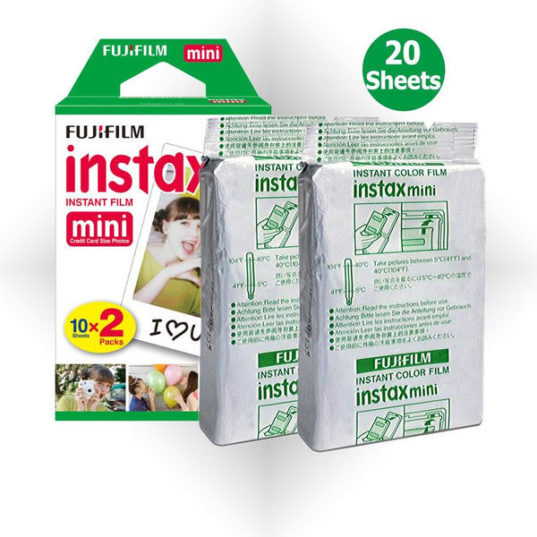 Fujifilm Instax camera film 20 sheets - Epicstuff.co.uk