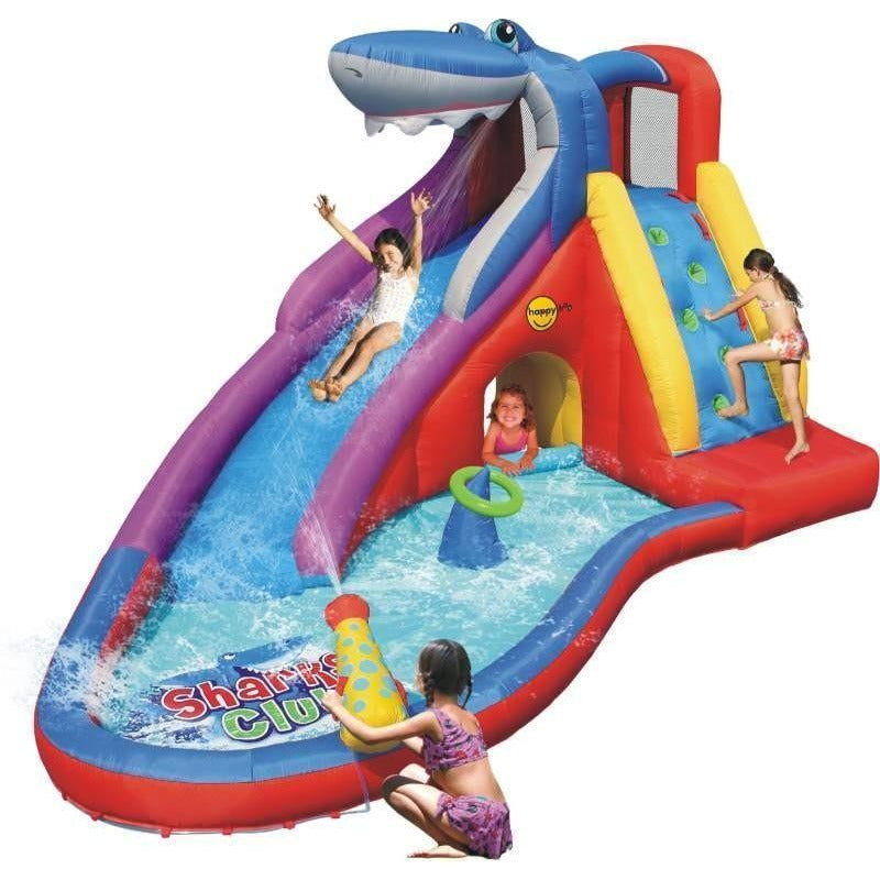 Sharks Club Inflatable 15ft Mega Water Slide Bouncy Castle 9417 - Epicstuff.co.uk