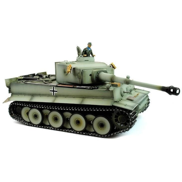 Taigen Hand Painted RC Tank Early Version Tiger I Grey Camo - Full Metal Upgrade - 2.4GHz - Epicstuff.co.uk