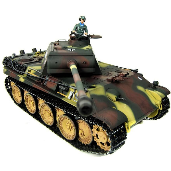 Taigen Hand Painted RC Tank - Metal Upgrade - Panther G - 360 Turret - Epicstuff.co.uk