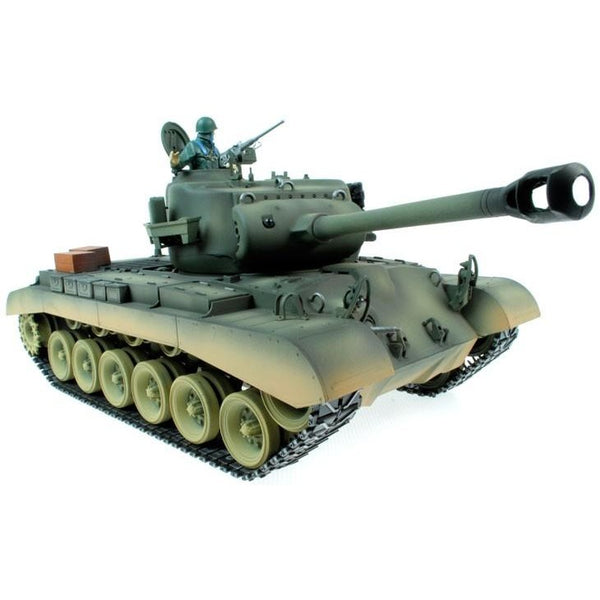 Taigen Hand Painted RC Tanks - Metal Upgrade - M26 Pershing - WITH FREE EXTRA BBs & SMOKE LIQUID! - Epicstuff.co.uk