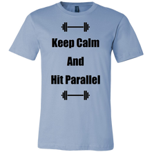"""Keep Calm And Hit Parallel"" Canvas Mens Shirt"
