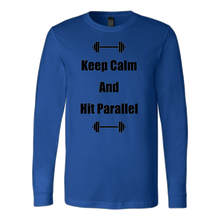 """Keep Calm And Hit Parallel"" Canvas Long Sleeve Shirt"