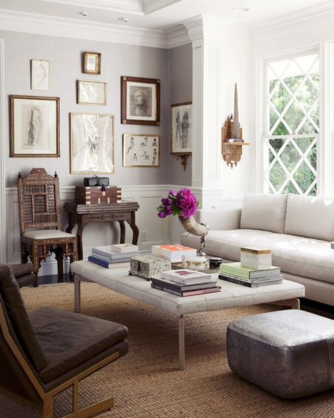 bright glamorous open traditional living room decor global design accents