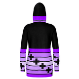 Purple Ribbons and Crosses Pullover Hoodie