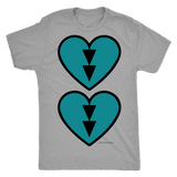 Turquoise Double Beat Mens T-Shirt