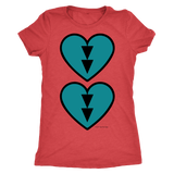 Turquoise Double Beat - Ladies T-Shirt