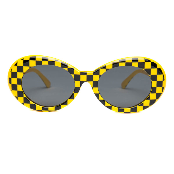 Clout Goggles Checkered Yellow