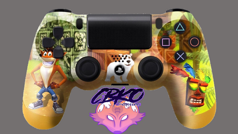Crash Bandicoot Fan art Playstation 4 controller