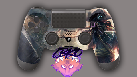 Samurai of darkness Fan art Playstation 4 controller