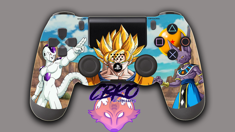Dragonball Z showdown Fan art Playstation 4 controller