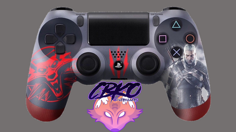 Witcher 3 Fan art Playstation 4 controller