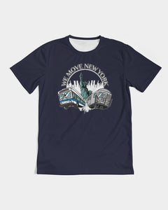 WMNY Train and Bus Men's Tee