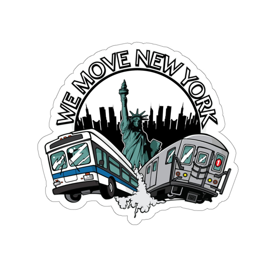 WMNY Train and Bus Sticker