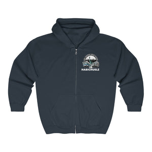 "Custom print ""Habichuelz"" Train and Bus Full Zip Hoodie (front and back print)"