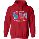 "Custom printed ""Divided States"" pullover hoodie"