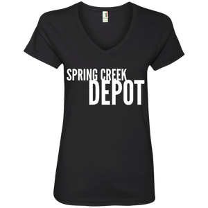 Spring Creek Depot Ladies' V-Neck T-Shirt