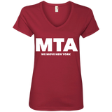 MTA WMNY (white letters) Ladies' V-Neck T-Shirt