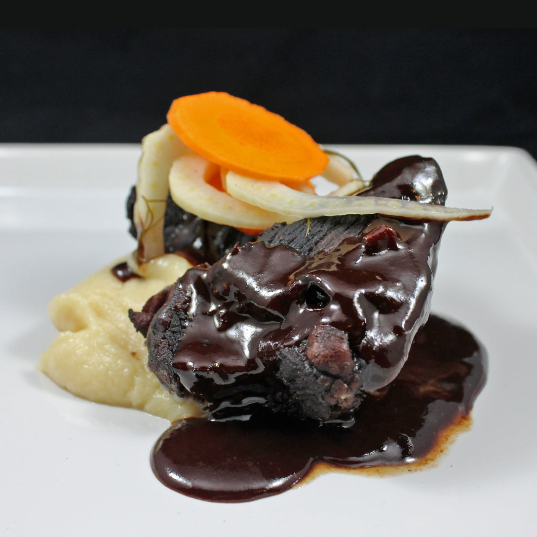 Braised Beef Shoulder with Parsnip Mash